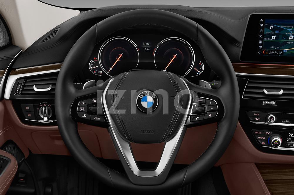 Car pictures of steering wheel view of a 2018 BMW 6 Series Gran Turismo Luxury 5 Door Hatchback