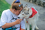 Siberian Husky Eating Doggie Ice Cream
