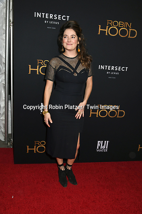 """actor Jamie Neumann attends the New York Special Screening of """"Robin Hood"""" on November 11, 2018 at AMC Lincoln Square in New York, New York, USA.<br /> <br /> photo by Robin Platzer/Twin Images<br />  <br /> phone number 212-935-0770"""