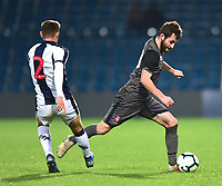 Lincoln City U18's Elliott Sartorius skips past West Bromwich Albion U18's Taylor Gardner-Hickman<br /> <br /> Photographer Andrew Vaughan/CameraSport<br /> <br /> FA Youth Cup Round Three - West Bromwich Albion U18 v Lincoln City U18 - Tuesday 11th December 2018 - The Hawthorns - West Bromwich<br />  <br /> World Copyright &copy; 2018 CameraSport. All rights reserved. 43 Linden Ave. Countesthorpe. Leicester. England. LE8 5PG - Tel: +44 (0) 116 277 4147 - admin@camerasport.com - www.camerasport.com