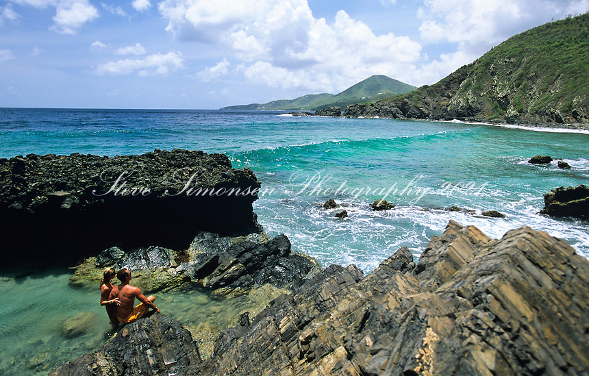 Couple at the tide pools <br /> Annaly Bay<br /> St. Croix<br /> U.S. Virgin Islands