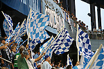 09 June 2011: Kansas City fans in the Member's Stand. Sporting Kansas City played the Chicago Fire to a 0-0 tie in the inaugural game at LIVESTRONG Sporting Park in Kansas City, Kansas in a 2011 regular season Major League Soccer game.