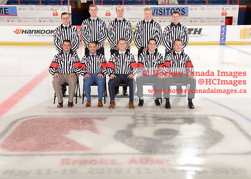 Brooks, AB - May 10 2019 - Tournament Officials during the 2019 National Junior A Championship at the Centennial Regional Arena in Brooks, Alberta, Canada (Photo: Matthew Murnaghan/Hockey Canada)