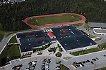 Goldenview Middle School, Anchorage, Alaska, hillside. Aerial photograph.