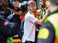 5th November 2019; Mestalla, Valencia, Spain; UEFA Champions League Football,Valencia versus Lille; Jose Gaya of Valencia CF arrives at Mestalla stadium - Editorial Use