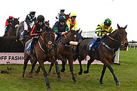 Findusatgorcombe ridden by Bryony Frost (r) in The Weatherbys Racing Bank Silver Buck Handicap Chase during Horse Racing at Wincanton Racecourse on 5th December 2019