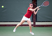 STANFORD, CA - April 14, 2011: Veronica Li of Stanford women's tennis during Stanford's dual against St. Mary's. Stanford won 6-1. Li defeated St. Mary's Claire Soper 6-1, 6-1.