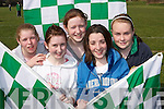 FLAGS: Catriona Davis, Rachel Flynn, Roisin Lucey, Niamh ODonoghue and Shauna Culloty proudly waving the Legion flags as the new clubrooms were officially opened on Saturday. .