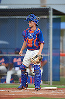 GCL Mets catcher Anthony Dimino (99) during the second game of a doubleheader against the GCL Marlins on July 24, 2015 at the St. Lucie Sports Complex in St. Lucie, Florida.  The game was suspended in the first inning due to rain.  (Mike Janes/Four Seam Images)