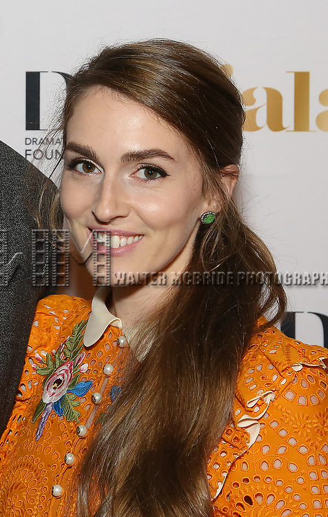 Annamarie Tendler attends 2017 Dramatists Guild Foundation Gala reception at Gotham Hall on November 6, 2017 in New York City.