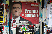 Prenez le Pouvoir: Take Power. Election poster for Front de Gauche French Presidential candidate Jean-Luc Melénchon.
