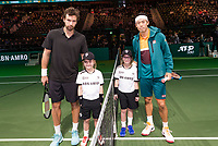 Rotterdam, The Netherlands, 14 Februari 2019, ABNAMRO World Tennis Tournament, Ahoy, Wheelchair, Kei Nishikori (JPN) - Ernests Gulbis (LAT) (L)<br /> Photo: www.tennisimages.com/Henk Koster