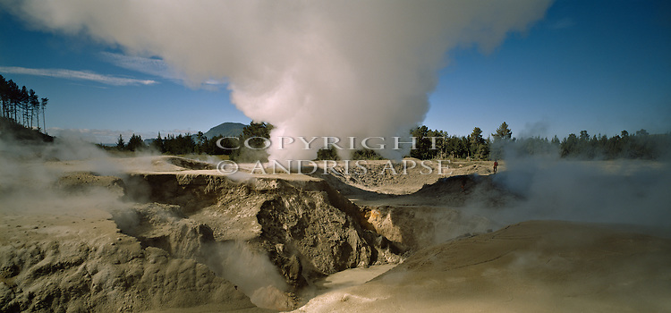 Craters of the Moon thermal area. Taupo. Waikato Region. New Zealand.