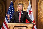 Mikheil Saakashvili, President of Georgia, delivers remarks in Gaston Hall.