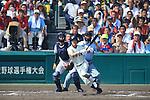 (R-L) Makoto Nakamura (Osaka Toin), Kengo Nakabayashi (Mie),<br /> AUGUST 25, 2014 - Baseball :<br /> 96th National High School Baseball Championship Tournament final game between Mie 3-4 Osaka Toin at Koshien Stadium in Hyogo, Japan. (Photo by Katsuro Okazawa/AFLO)7() 7 2