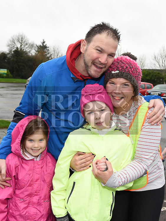 James, Clodagh, Caragh and Lily Fitzharris who took part in the Goal Mile at St Fechins GAA club on St Stephen's morning. Photo:Colin Bell/pressphotos.ie