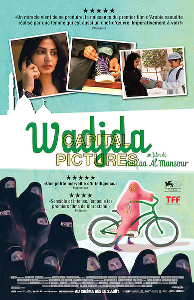 FRENCH CANADIAN POSTER ART<br /> in Wadjda (2012) <br /> *Filmstill - Editorial Use Only*<br /> CAP/FB<br /> Image supplied by Capital Pictures