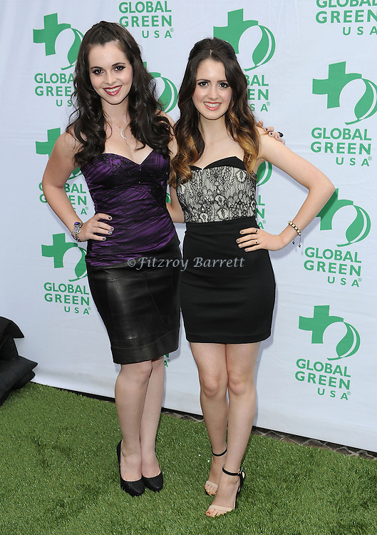"Vanessa Marano and her sister Laura Marano at the ""Global Green USA's Annual Millennium Awards"" held at Fairmont Miramar Hotel in Los Angeles, Ca. on June 8, 2013."