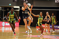 17.09.2016 Silver Ferns Grace Rasmussen in action during the Taini Jamison netball match between the Silver Ferns and Jamaica played at the Energy Events Centre in Rotorua. Mandatory Photo Credit ©Michael Bradley.