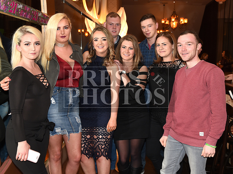 Justine McGuirk celebrating her 21st birthday in the Thatch with friends. Photo:Colin Bell/pressphotos.ie