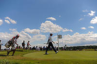 Hideki Matsuyama (JPN) departs the 7th tee during Sunday's round 4 of the 117th U.S. Open, at Erin Hills, Erin, Wisconsin. 6/18/2017.<br /> Picture: Golffile | Ken Murray<br /> <br /> <br /> All photo usage must carry mandatory copyright credit (&copy; Golffile | Ken Murray)