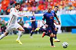 Gerard Pique (ESP), Wesley Sneijder (NED), JUNE 13, 2014 - Football / Soccer : FIFA World Cup Brazil 2014 Group B match between Spain 1-5 Netherlands at Arena Fonte Nova in Salvador, Brazil. (Photo by D.Nakashima/AFLO)