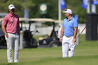 Paul Waring (ENG) speaking to the EDGE players after they finished there round ahead of the 3rd round of the DP World Tour Championship, Jumeirah Golf Estates, Dubai, United Arab Emirates. 23/11/2019<br /> Picture: Golffile   Fran Caffrey<br /> <br /> <br /> All photo usage must carry mandatory copyright credit (© Golffile   Fran Caffrey)