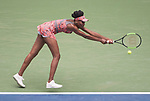 August  28, 2017:  Venus Williams (USA) defeated Viktoria Kuznova (SVK)  6-3, 3-6, 6-2, at the US Open being played at Billy Jean King Ntional Tennis Center in Flushing, Queens, New York. Leslie Billman/EQ