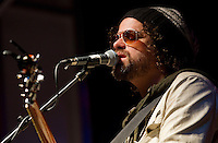 Rusted Root performs on the Highmark Stage during the New Years Eve celebration in downtown Pittsburgh, Pennsylvania on December 31, 2011.