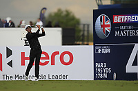 Jack Singh Brar (ENG) on the 4th tee during Round 2 of the Betfred British Masters 2019 at Hillside Golf Club, Southport, Lancashire, England. 10/05/19<br /> <br /> Picture: Thos Caffrey / Golffile<br /> <br /> All photos usage must carry mandatory copyright credit (&copy; Golffile | Thos Caffrey)