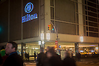The New York Hilton Hotel on Sixth Avenue in New York on Friday, February 22, 2013 (© Richard B. Levine)