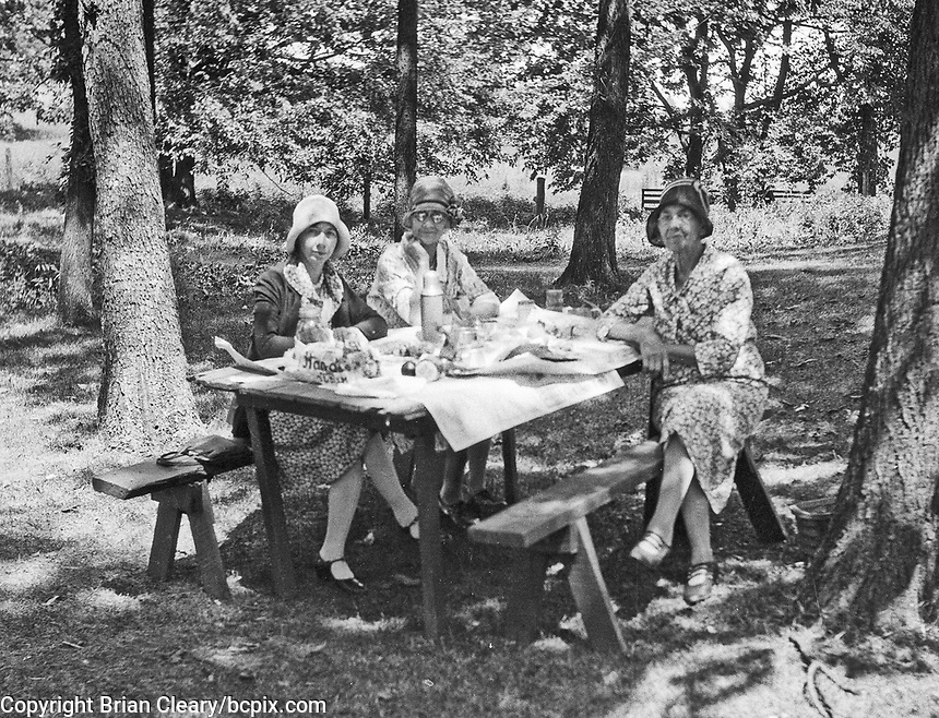 Country picnic, circa 1930's.   (photo: www.bcpix.com)