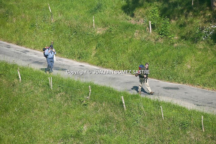 Albergue para peregrinos que hacen el camino de Santiago en la localidad de Guemes Cantabria.foto © JOAQUIN GOMEZ SASTRE