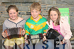 YOUNG: Young musicians who took patt on Sunday in the Fele Cheoil at Lixnaw. Miriam Breen (Ballybunnion), Fiachra King (Banna) and Aoife Enright (Duagh)........