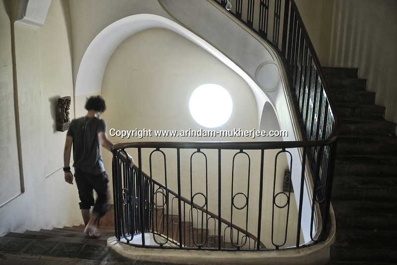 Interiorof E'cole Francaise D'extreme - Orient in Pondicherry. Arindam Mukherjee