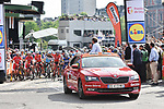 Ready for the start of the 104th edition of La Doyenne, Liege-Bastogne-Liege 2018 running 258.5km from Liege to Ans, Belgium. 22nd April 2018.<br /> Picture: ASO/Karen Edwards | Cyclefile<br /> <br /> <br /> All photos usage must carry mandatory copyright credit (&copy; Cyclefile | ASO/Karen Edwards)