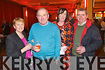 Pictured at Elvis concert at the INEC, Killarney, on Saturday were l-r: Margaret Scanlon (Listowel) Denis Scanlon (Listowel) Jane O'Sullivan (Listowel) and Eugene O'Sullivan (Listowel).