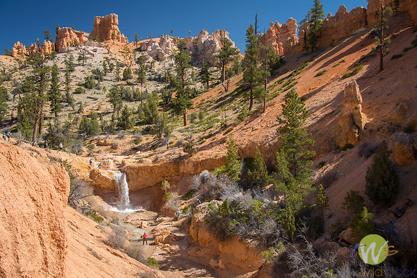 Mossy Cave, Bryce Canyon National Park. Utah. Waterfall.