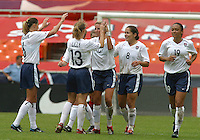 USA Celebration , USWNT vs Canada April 26, 2003.