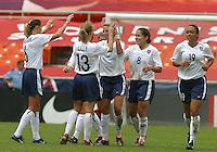 USA Celebration , USWNT vs Canada April 26, 2003.