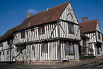 Half timbered black and white house, Lavenham, Suffolk, England in medieval times Lavenham was a centre of the wool trade making it one of the wealthiest parts of the country.
