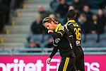 Stockholm 2014-04-16 Fotboll Allsvenskan Djurg&aring;rdens IF - AIK :  <br /> AIK:s Martin Lorentzson kysser en ring p&aring; fingret efter sitt 1-0 m&aring;l i den f&ouml;rsta halvleken<br /> (Foto: Kenta J&ouml;nsson) Nyckelord:  Djurg&aring;rden DIF Tele2 Arena AIK jubel gl&auml;dje lycka glad happy
