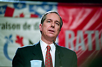 October 24, 1995  File Photo -  Daniel Johnson, Liberal leader  during the 1995 referendum