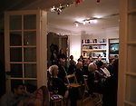 The Dramatists Guild Fund Salon with Matthew Sklar and Chad Beguelin at the home of Gretchen Cryer on December 8, 2016 in New York City.
