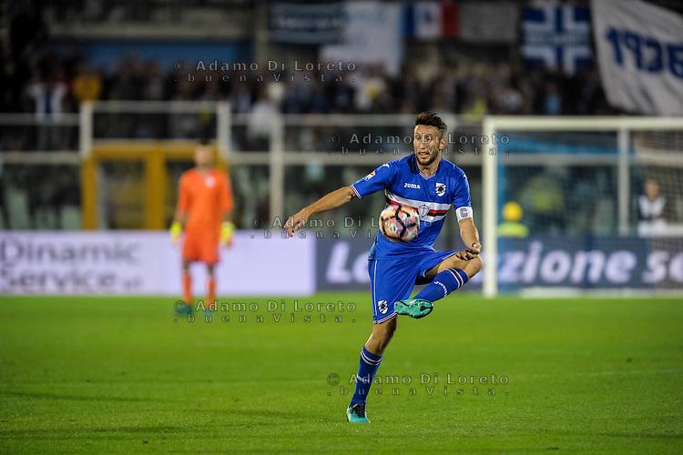 Regini Vasco (Sampdoria) during the Italian Serie A football match Pescara vs Sampdoria on October 15, 2016, in Pescara, Italy. Photo Adamo Di Loreto/BuenaVista*photo