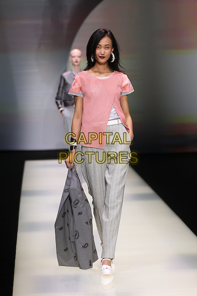 EMPORIO ARMANI<br /> Milan Fashion Week, Ready to Wear,Spring Summer 2016, Milan, Italy September 25, 2015.<br /> CAP/GOL<br /> &copy;GOL/Capital Pictures