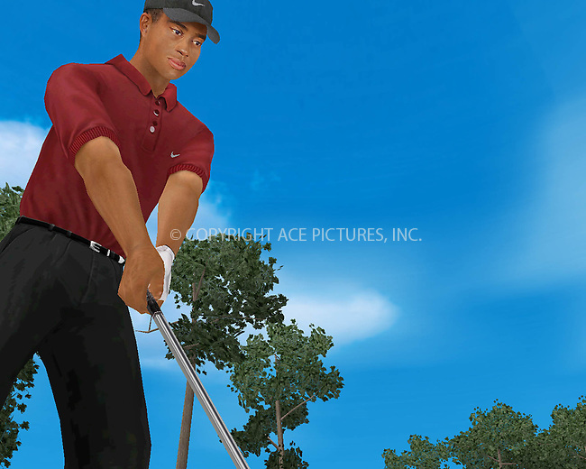 "Screenshot of a new Tiger Woods' computer game, ""Tiger Woods PGA Tour 2002"" which is thought to be one of the most realistic golf simulations on the market. March 2002. Byline NY Photo Press.   ..*PAY-PER-USE*      ....NY Photo Press:  ..phone (646) 267-6913;   ..e-mail: info@nyphotopress.com"