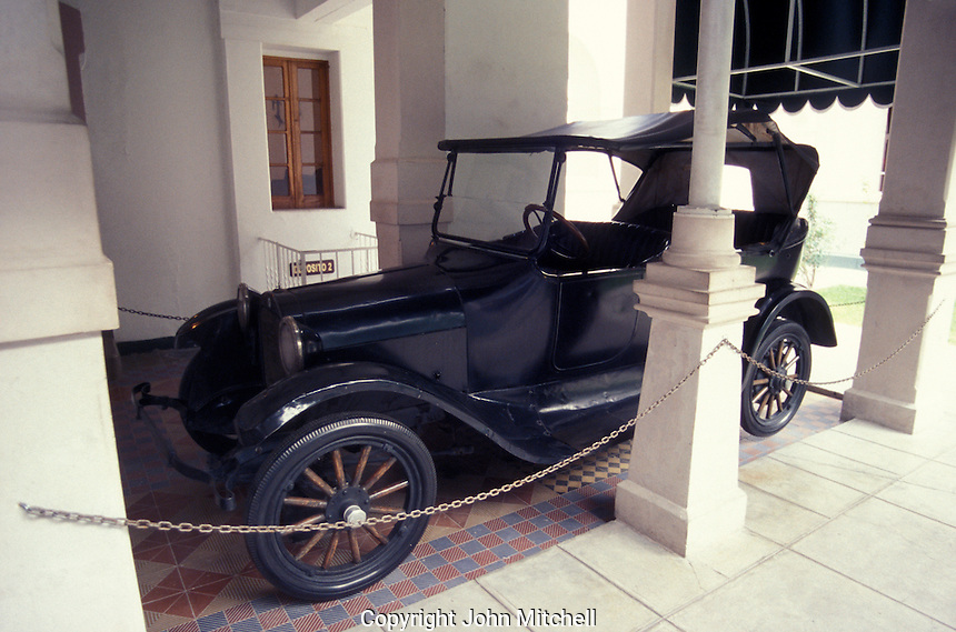 The Dodge touring car that Pancho Villa was riding in when he was assasinated in 1923, Museo de la Revolucion Mexicana in the city of Chihuahua, Mexico.