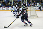 February 20, 2016 - Colorado Springs, Colorado, U.S. -   Robert Morris defender, Tyson Wilson #10, in action during an NCAA ice hockey game between the Robert Morris University Colonials and the Air Force Academy Falcons at Cadet Ice Arena, United States Air Force Academy, Colorado Springs, Colorado.  Air Force defeats Robert Morris 4-1