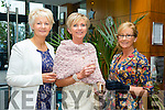 l-r Elenor Quinlan,Listowel, Nora Finucane,Listowel and Elish Stack,Listowel at Fashion Soirée Ladies Day Fashion and Autumn Winter 2015 Collection In aid of Kerry Cancer Support Group at Manor West Hotel on Friday